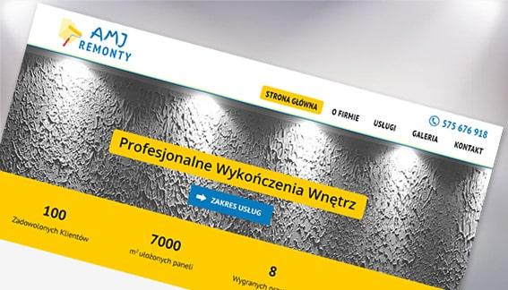 Strona Internetowa Remonty Wykończenia Wnętrz AMJ Remonty Warszawa