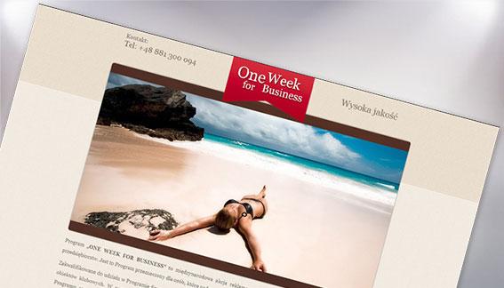 Strona Internetowa One Week for Business Warszawa