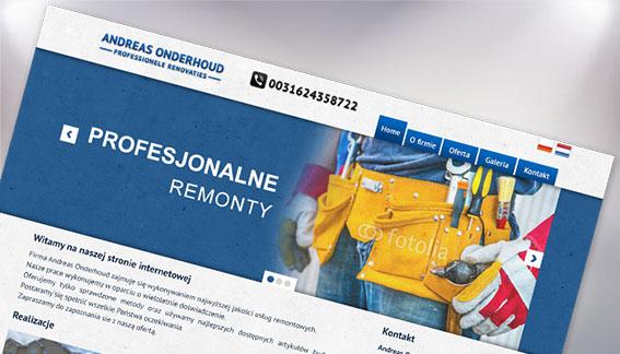 Strona Internetowa Profesjonalne Remonty Holandia