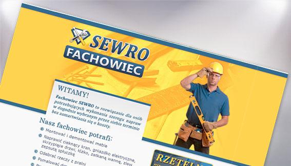 Strona Internetowa Fachowiec Złota Rączka Sewro Warszawa