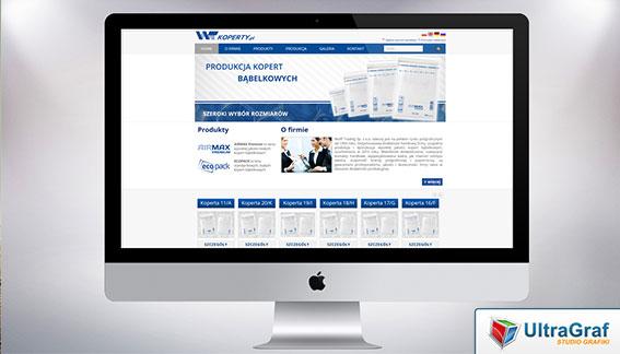 Strona Internetowa Produkacja Kopert Bąbelkowych Wolff Trading Warszawa