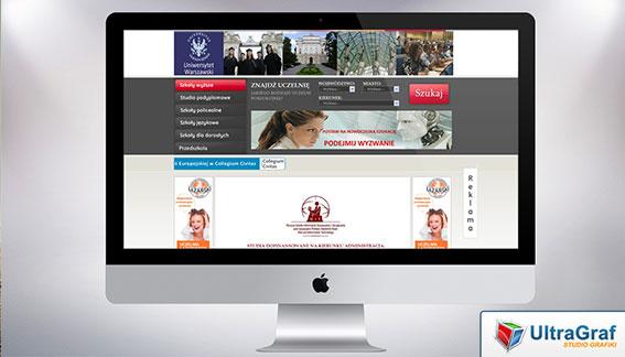Strona Internetowa Uniwersytet Warszawa