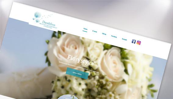 Strona Internetowa Florystyka Dandelion Warszawa