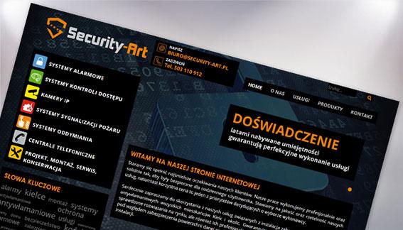 Strona Internetowa Systemy alarmowe Security-Art Kielce