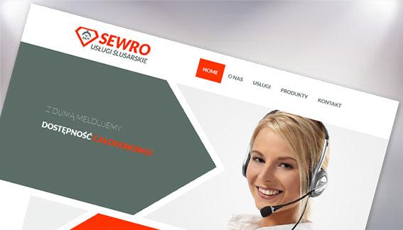 Strona Internetowa Usługi Ślusarskie Sewro Mokotów Warszawa