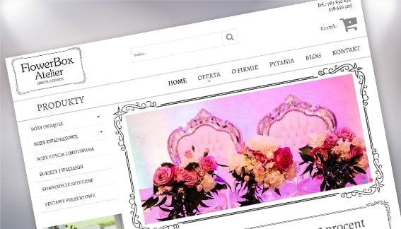 Sklep Internetowy Florystyka Ślubna Weselna Kwiaty Flower Box Atelier Green Corner Końskie