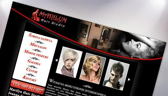 Strona Internetowa Fryzjer Damski Męski Marilyn Hair Studio Końskie