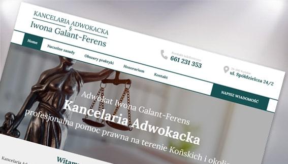 Strona Internetowa Kancelaria Adwokacka Iwona Galant-Ferens Spółdzielcza Końskie