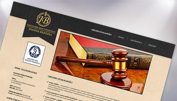 Strona Internetowa Kancelaria Radcy Prawnego Joanna Brzózka Końskie