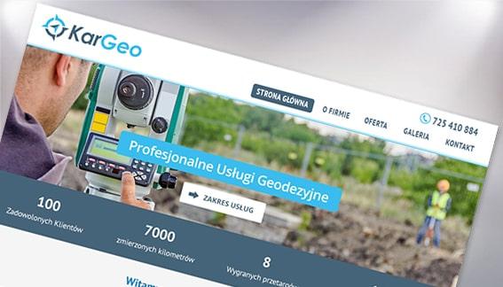 Strona Internetowa Usługi Geodezyjne KarGeo Końskie