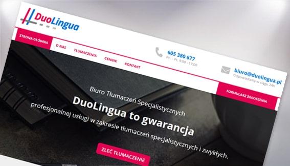 Strona Internetowa Biuro Tłumaczeń DuoLingua Końskie